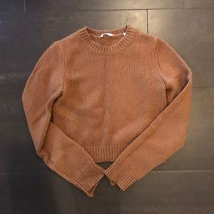 ALC WOOL + CASHMERE SWEATER BROWN